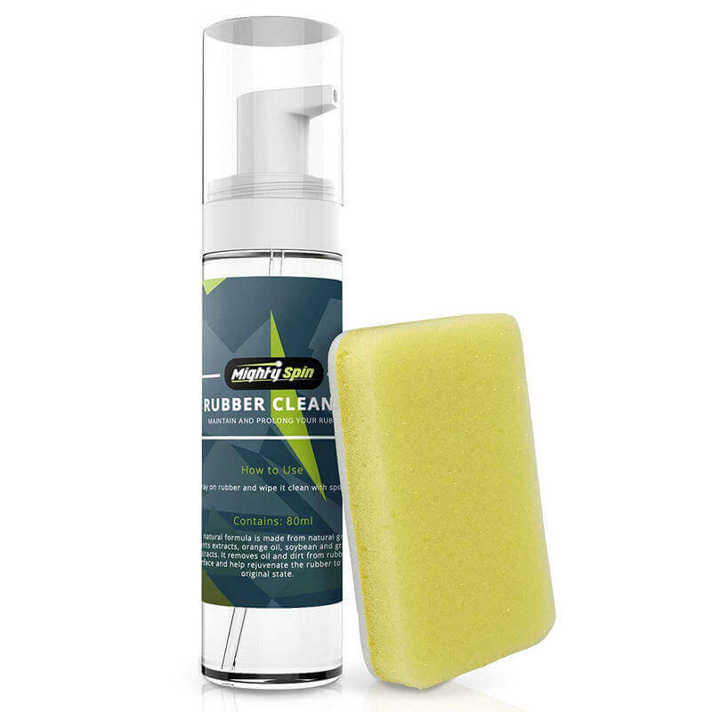 MightySpin ping pong paddle care kit and rubber cleaner