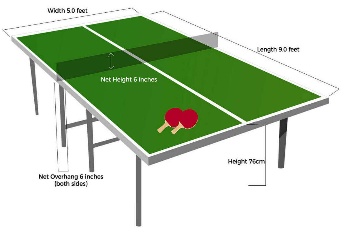 Standard ping pong table dimensions