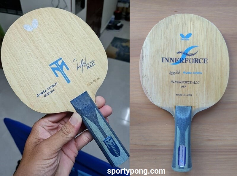 Butterfly Timo Boll ALC Vs Butterfly Innerforce ALC review full comparison