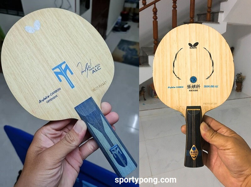 Butterfly Timo Boll ALC Vs Zhang Jike ALC review full comparison