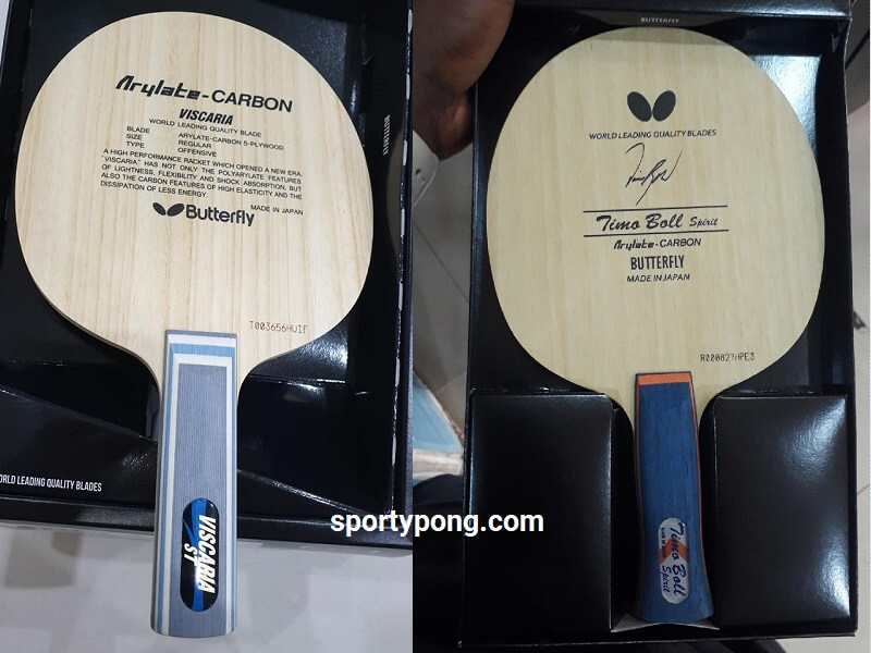 Butterfly Viscaria vs Timo Boll Spirit review full comparison