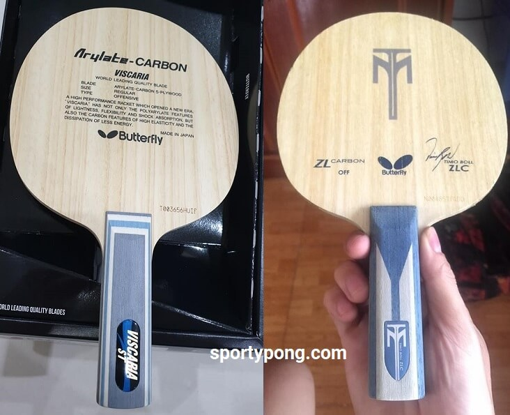 Butterfly Viscaria Vs Timo Boll ZLC review full comparison